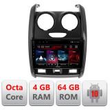 Navigatie dedicata Dacia Duster 2012-2019 E-157 Octa Core cu Android Radio Bluetooth Internet GPS WIFI DSP 4+64GB 4G CarStore Technology