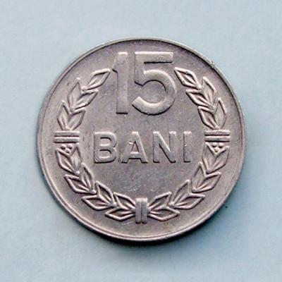 ROMANIA - 15 Bani 1975 foto