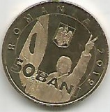 No(5) moneda-ROMANIA- 50 bani 2019- Revolutia romana din decembrie1989`, Cupru (arama)