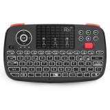 Cumpara ieftin Tastatura Techstar® Rii i4, Dual Mode Wireless + Bluetooth, Scroll, TouchPad, Controller, Iluminata