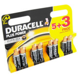 Set baterii AA Duracell DCEL500039401813, 5 + 3 bucati, Duralock Plus power