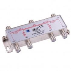 Splitter 6 cai Power Pass, frecventa 5-2450 Mhz