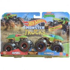 Set Hot Wheels Mattel Monster Trucks Demolition Doubles Raphael vs Leonardo