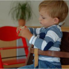 Scaun de masa de lemn copii culoare natural Treppy