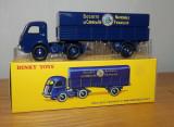 Macheta Tracteur Panhard et semi-remorque S.N.C.F.  - Dinky Toys