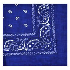 Bandana - floral albastru intens