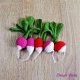 Ridichie legume jucarie copii handmade bumbac
