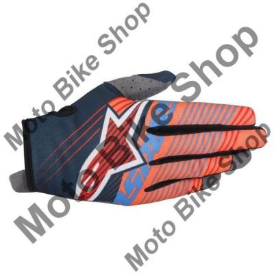 MBS Manusi motocross copii Alpinestars Handschuh Radar Tracker , portocaliu/albastru , marimea XS=4, Cod Produs: 35419177074XSAU foto