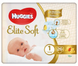 Cumpara ieftin Scutece Huggies Elite Soft Convi, Nr 1, 3-5 kg, 26 buc