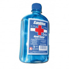 Cumpara ieftin Alcool Sanitar Spirt Saniblue 500 ml ,  vol 70% (dezinfectant uz extern)