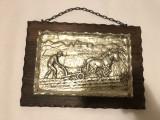 Tablou zinc,rama lemn