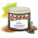 Scrub exfoliant cu cafea, uleiuri esențiale și zahăr brun, Nympheum, 200ml