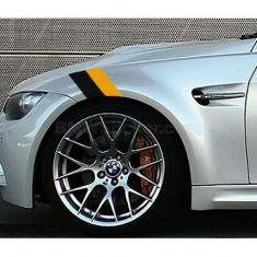 Sticker ornament auto BMW Flag - Black/Yellow