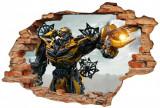 Cumpara ieftin Sticker Wall Crack Transformers 2 - 120 x 80 cm