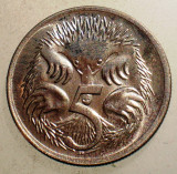 1.077 AUSTRALIA 5 CENTS 1971 XF/AUNC, Australia si Oceania, Cupru-Nichel