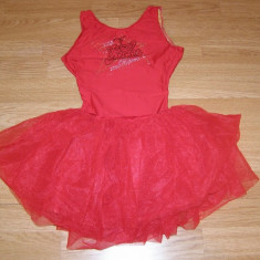 costum carnaval serbare rochie dans balet gimnastica pentru copii de 6-7 ani