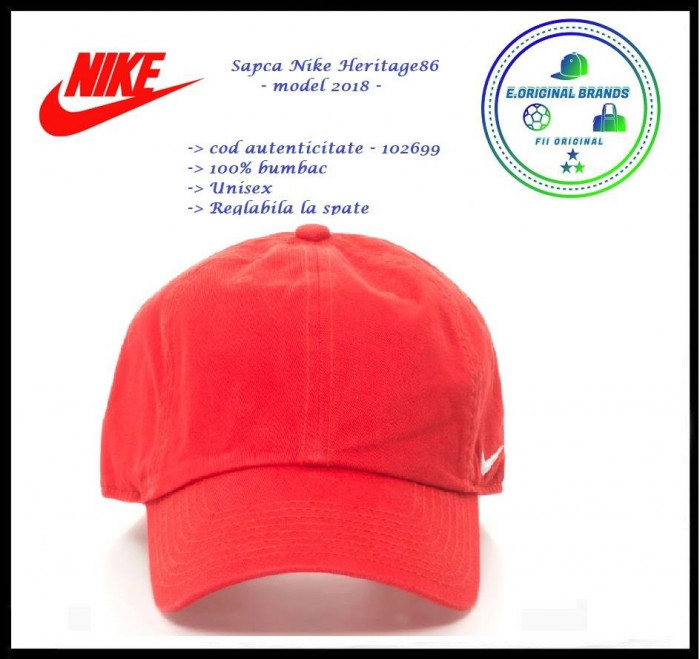 In Stoc! Sapca Nike Heritage  Rosie - Reglabila - Bumbac - Cod 102699x