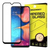 Folie Protectie Ecran WZK pentru Samsung Galaxy A20e, Sticla securizata, Full Face, Full Glue, Neagra