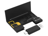 Kit Organizator pentru Cartele SIM, cititor card micro SD 2in1 si cheita Sim, Blow