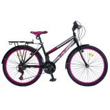 """Bicicleta MTB Dame Vision Elegance Culoare Negru/Roz Roata 26"""" OtelPB Cod:202608000308"""
