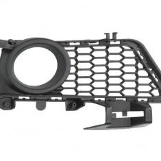 Grila bara fata dreapta pachet M cu locas proiectoare plastic gri inchis BMW Seria 3 intre 2011 2015