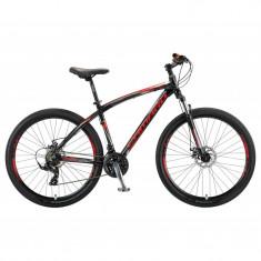 """Bicicleta MTB Umit Camaro 2D , Cadru 18"""" , 21 Viteze , Culoare Negru/Rosu, RoataPB Cod:26610180001, Discuri"""