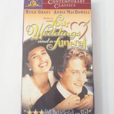 Caseta video VHS originala film - Four Weddings and a Funeral