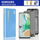 Display cu touchscreen Samsung Galaxy A21s Service Pack Original Negru