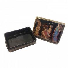 Caseta de Bijuterii Dreptungiulara decorata cu Foita de Auriude 24K Handmade in Greece Cod Produs 525