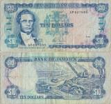1985 ( 1 I ) , 10 dollars ( P-71a ) - Jamaica