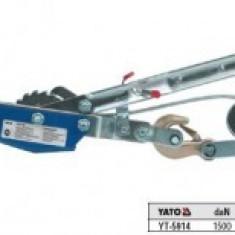 Troliu cu cablu, orizontal 1.5 tone, Yato YT-5914