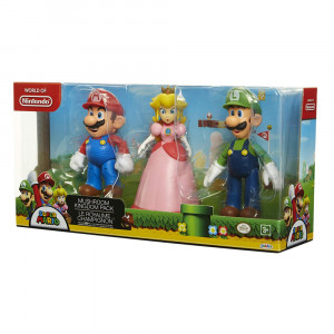 Set 3 Figurine articulate, Nintendo, Super Mario (Mario, Luigi, Princess Peach)