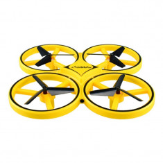 Drona Anti Coliziune, Inteligenta, cu LED, Techstar® Firefly, Control Gravitational RC din Telecomanda, Quadcopter Smart