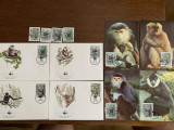 Vietnam - maimuta - serie 4 timbre MNH, 4 FDC, 4 maxime, fauna wwf