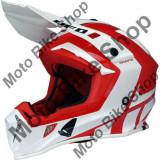 MBS Casca motocross Ufo Plast Quiver Shasta, rosu/alb, XS, Cod Produs: HE124XS