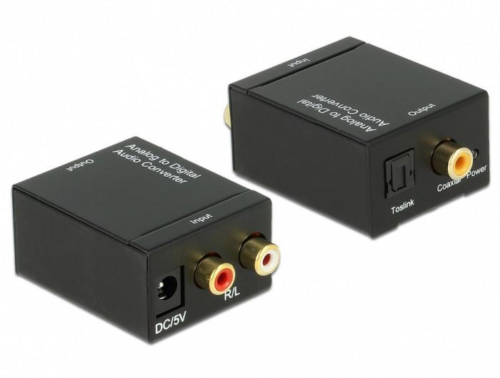 Convertor audio RCA Analog la Digital S/PDIF, Delock 62443
