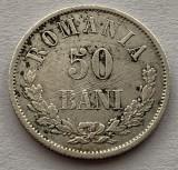 50 Bani 1876 Argint, Romania, VF/XF, mai rara!