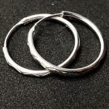 Creole 2.3 cm Silver din argint rodiat