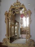Oglinda SILIK,ITalia,baroc venetian,1,68m inaltime,lemn masiv,foita, Dupa 1950