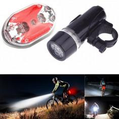 Set lanterna si stop bicicleta, LED, impermeabil, model universal
