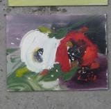"""Maci și Anemone"" 14x10 cm"