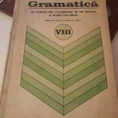 MANUAL GRAMATICA CLASA VIII NOTIUNI DE VOCABULAR SI DE ISTORIE A LIMBII ROMANE