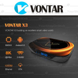 Tv BOX  Vontar X3 ,8K Amlogic S905X3 -2Ghz, 4gb, 32gb,Gigabite 1000M,Android 9.0