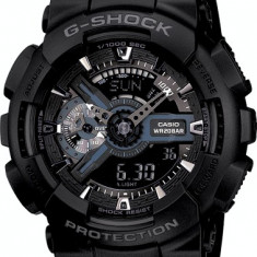 CEAS SPORT CASIO G-SHOCK GA-110 ALL BLACK-NOU-BACKLIGHT-MODEL 2019-POZE REALE !