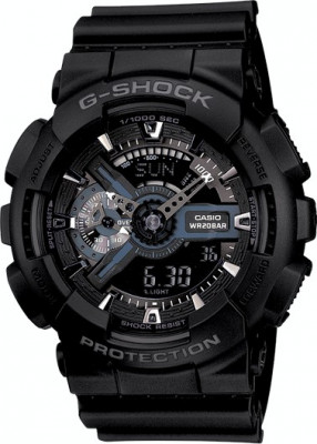 CEAS SPORT CASIO G-SHOCK GA-110 ALL BLACK-NOU-BACKLIGHT-MODEL 2019-POZE REALE ! foto