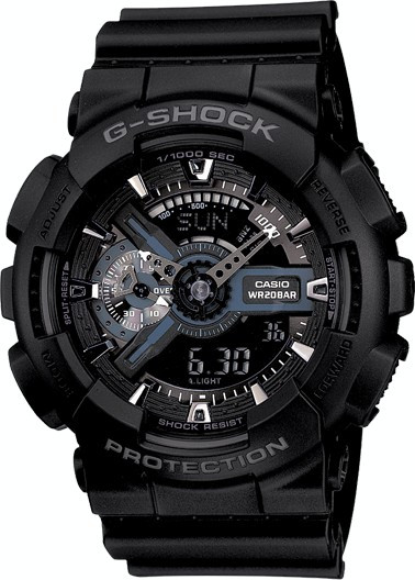 CEAS SPORT CASIO G-SHOCK GA-110 ALL BLACK-NOU-BACKLIGHT-MODEL 2019-POZE REALE !
