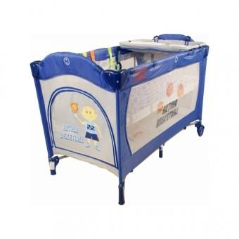 Patut pliabil Pentru Copii MediumGo - Blue/Grey