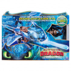 Figurina Spin Master, Toothless, Dragonul ce scuipa foc