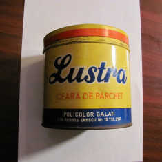 "CY Cutie veche ""Ceara Parchet LUSTRA"" 1 kg / POLICOLOR Galati / comunism Romania"