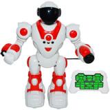 Robot de jucarie cu radiocomanda, acumulator reincarcabil, sunete si lumini - Canta si danseaza, 27 cm